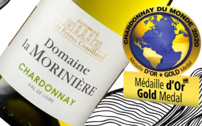 A gold medal for the Chardonnay Domaine de la Morinière 2020 !