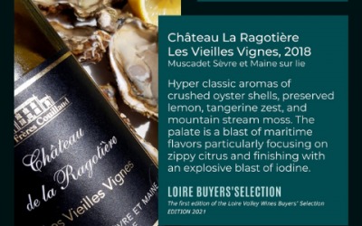 98/100 for Muscadet Les Vieilles Vignes 2018